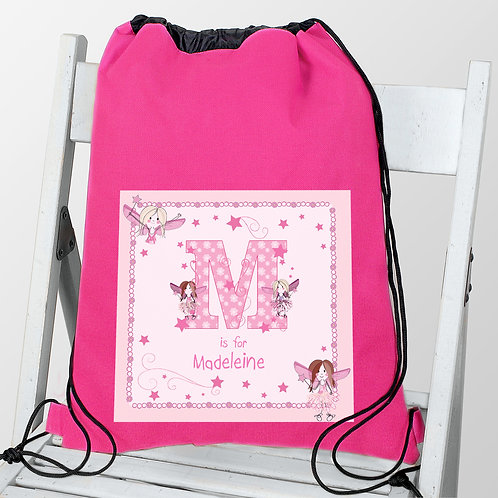 Personalised Fairy Letter Swim & Kit Bag (PMC)