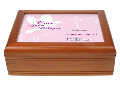 Dove Design Musical Confirmation Jewellery Box