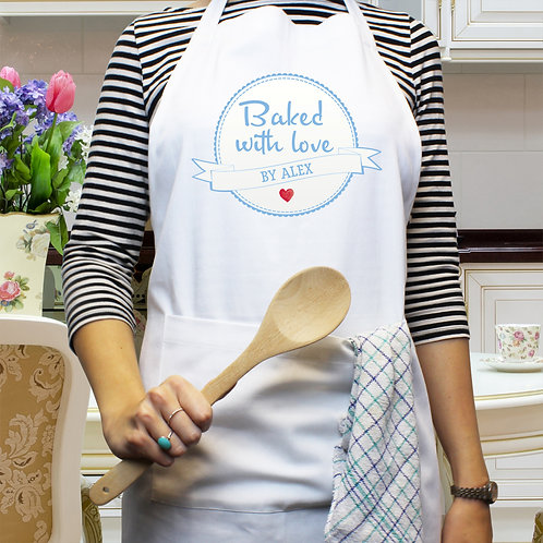Personalised Baked With Love Apron (PMC)