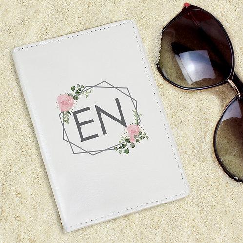 Personalised Floral Cream Passport Holder (PMC)