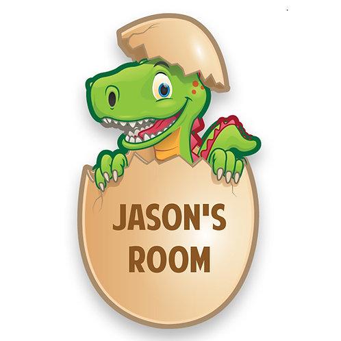 Dinosaur Bedroom Door Plate (PTG)