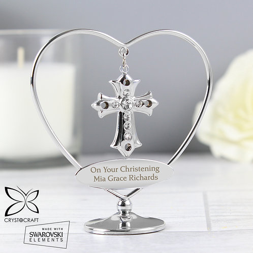 Personalised Crystocraft Cross Ornament (PMC)