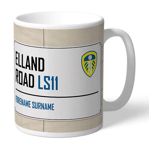 Leeds United FC Street Sign Mug (PMC)