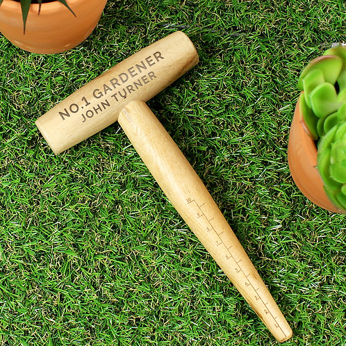 Personalised Message Wooden Dibber (PMC)
