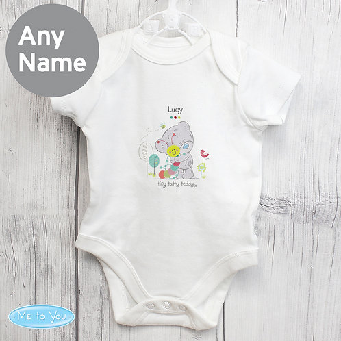Personalised Tiny Tatty Teddy Cuddle Bug 0-3 Months Baby Vest (PMC)