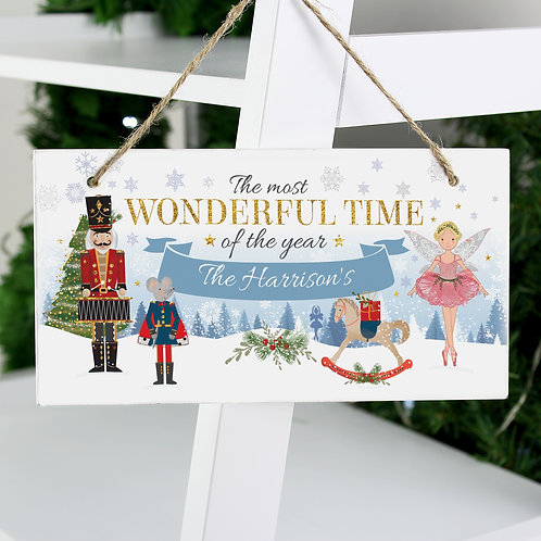 Personalised Nutcracker Wooden Sign (PMC)
