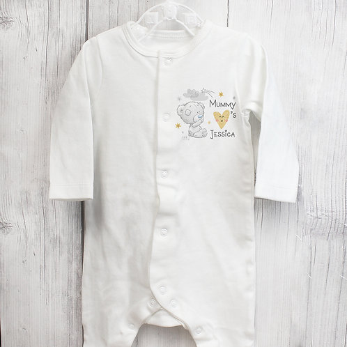 Personalised Tiny Tatty Teddy I Heart 0-3 Months Babygrow (PMC)