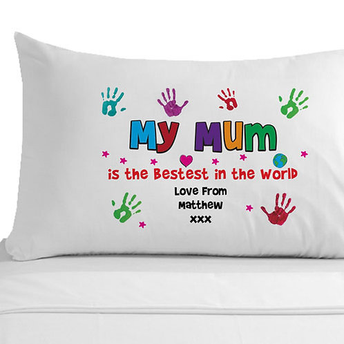 Personalised Bestest Mum Pillowcase