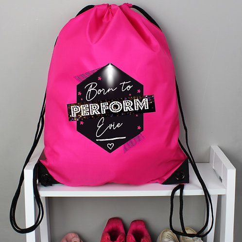 Personalised 'Born to Perform' Pink Kit Bag (PMC)