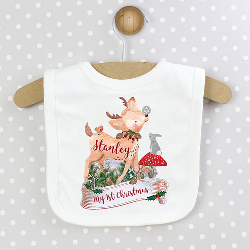 Personalised Festive Fawn Bib (PMC)