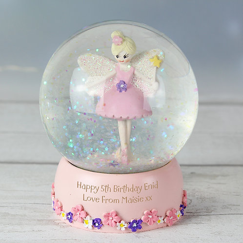 Personalised Fairy Glitter Snow Globe (PMC)