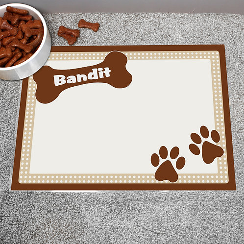 Personalised Brown Dotty Dog Placemat (PMC)