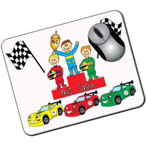 Kids Mousemat: Racing Cars Design