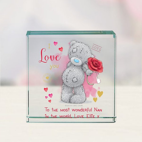Me To You I Love You Glass Block
