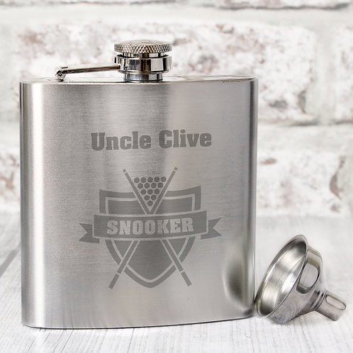 Personalised Snooker Hip Flask (PMC)