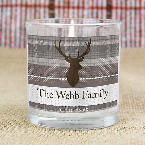 Personalised Highland Stag Scented Jar Candle (PMC)