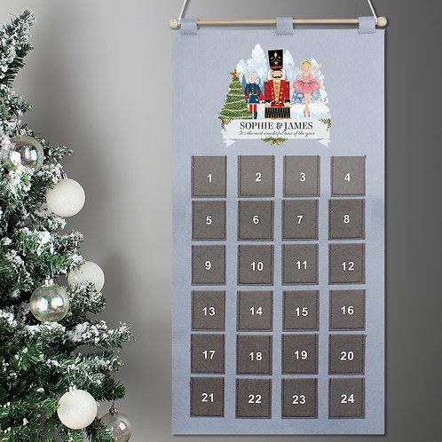 Personalised Nutcracker Advent Calendar In Silver Grey (PMC)