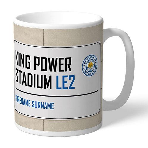 Leicester City FC Street Sign Mug (PMC)