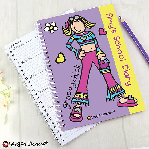 Personalised Bang on the Door Groovy Chick A5 Diary (PMC)