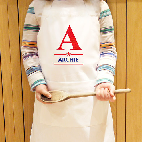 Personalised Boys Initial Children's Apron (PMC)