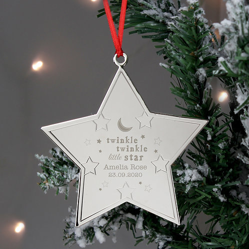 Personalised Twinkle Twinkle Star Metal Decoration (PMC)