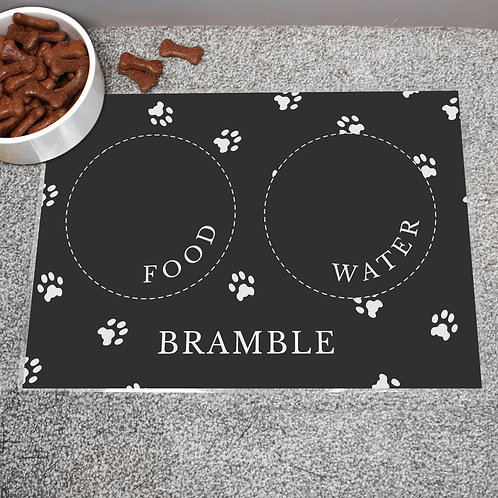 Personalised Black Pet Placemat (PMC)