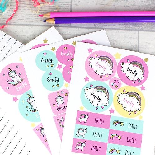 Personalised Baby Unicorn Sticker Set (PMC)