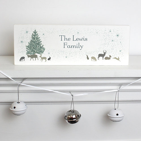 Personalised A Winters Night Wooden Block Sign (PMC)