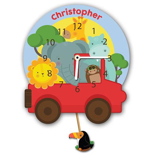 Safari Childs Wall Clock (PTG)