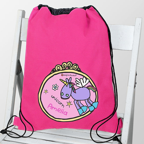 Personalised Bang on the Door Unicorn Swim & Kit Bag (PMC)