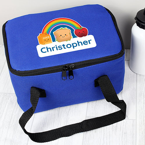 Personalised Healthy Eating Blue Lunch Bag (PMC)