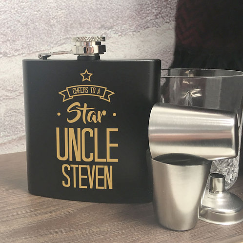 Star Uncle Hip Flask