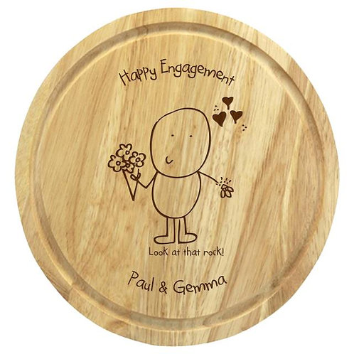 Chilli & Bubbles Engagement Chopping Board