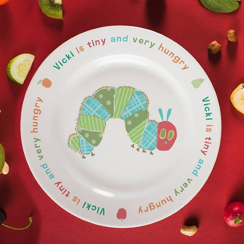 Very Hungry Caterpillar Tiny & Very Hungry 8? Bone China Rimmed Plate