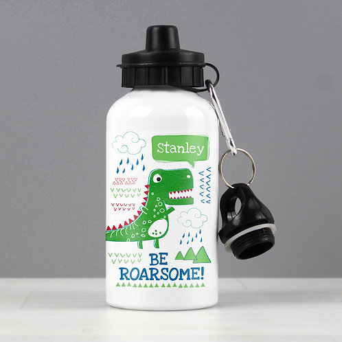 Personalised 'Be Roarsome' Dinosaur Drinks Bottle (PMC)