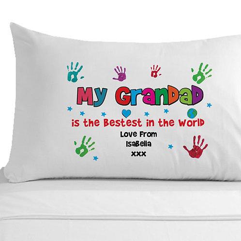 Personalised Bestest Grandad Pillowcase