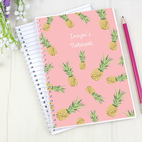 Personalised Pineapple A5 Notebook (PMC)