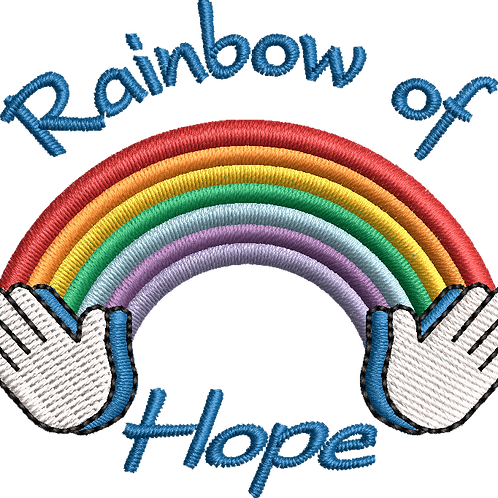 Keyworker Female Polo (RAINBOW OF HOPE WITH WRITING ABOVE AND BELOW)