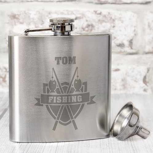 Personalised Fishing Hip Flask (PMC)