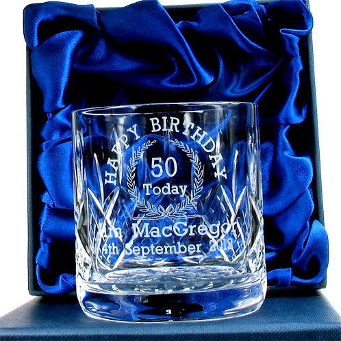 50th Birthday Whisky Glass