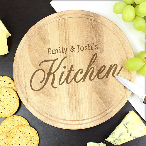 Personalised Kitchen Round Chopping Board (PMC)