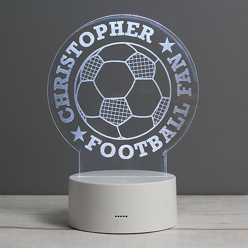 Personalised Football LED Colour Changing Desk Night Light (PMC)