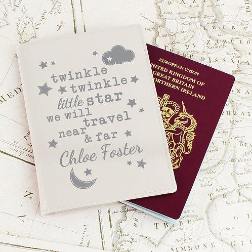 Personalised Twinkle Twinkle Cream Passport Holder (PMC)