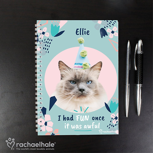 Personalised Rachael Hale 'I Had Fun Once' Cat A5 Notebook (PMC)