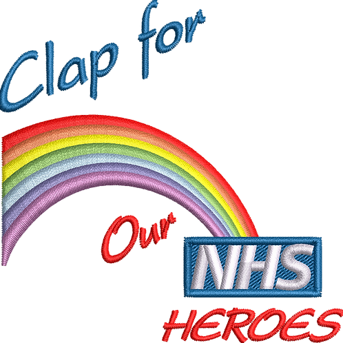Keyworker Male Polo (CLAP FOR OUR NHS HEROES RAINBOW)