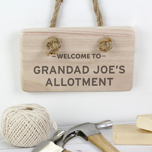 Personalised Welcome To... Wooden Sign (PMC)