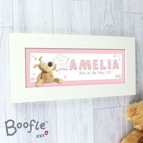 Personalised Boofle It's a Girl Name Frame (PMC)