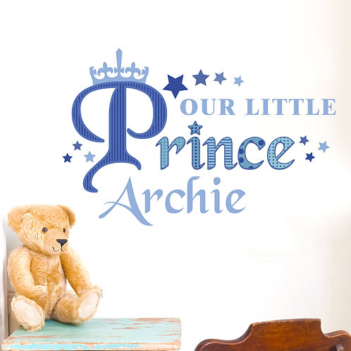 Personalised Our Little Prince Wall Art (PMC)