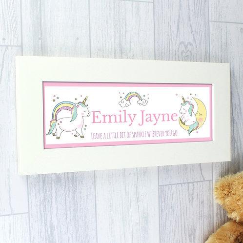 Personalised Baby Unicorn Name Frame (PMC)