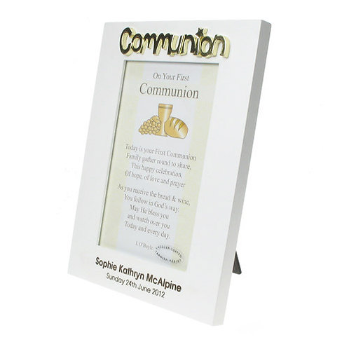 Engraved Communion Photo Frame